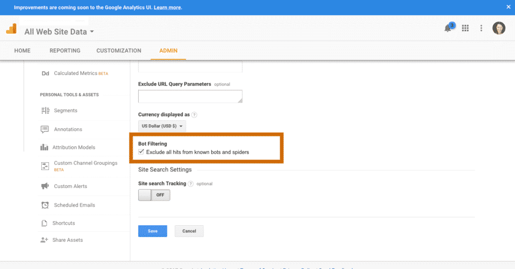 how to block bots from your google analytics on your doula website