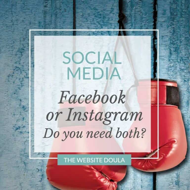 facebook or instagram for doulas