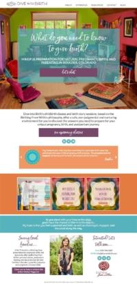childbirth educator website design