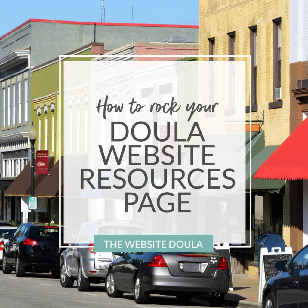 doula website resources page tips