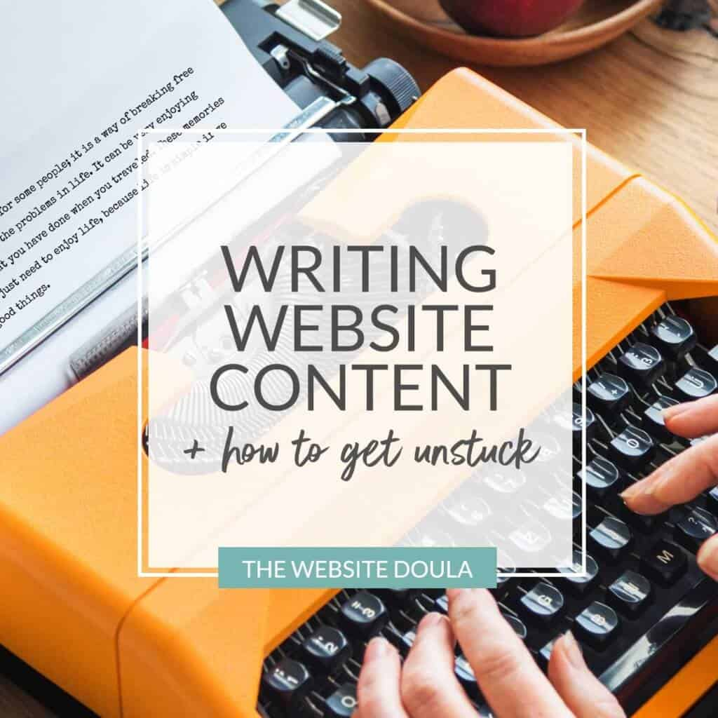 Writing website content