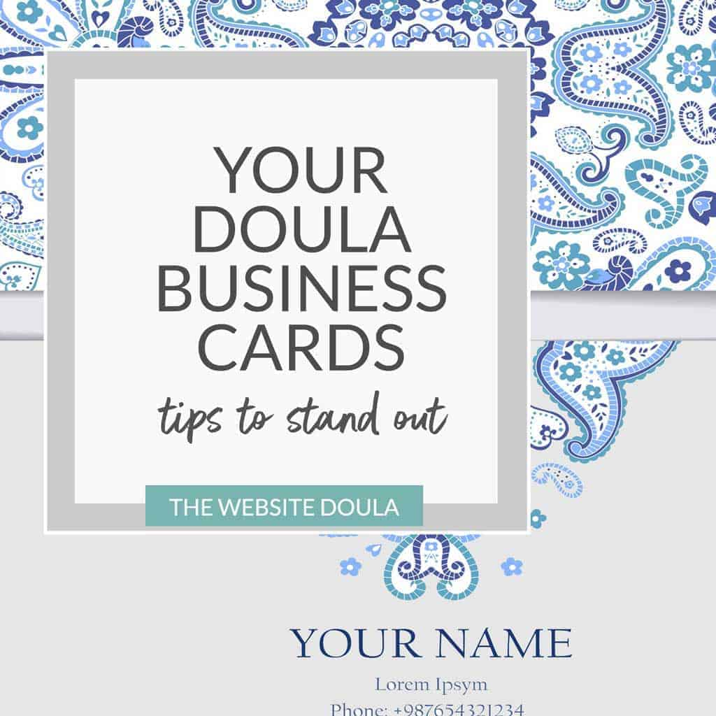 Your Doula Business Card | Creative approaches to attract new doula ...