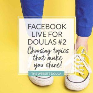 doula facebook live topics