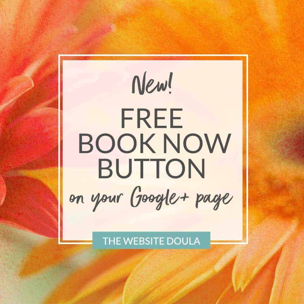 new google book now button in search results free doula consults