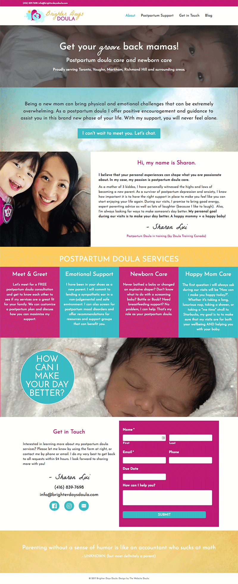 postpartum doula website