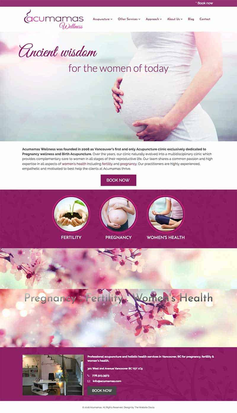 acupuncture website design