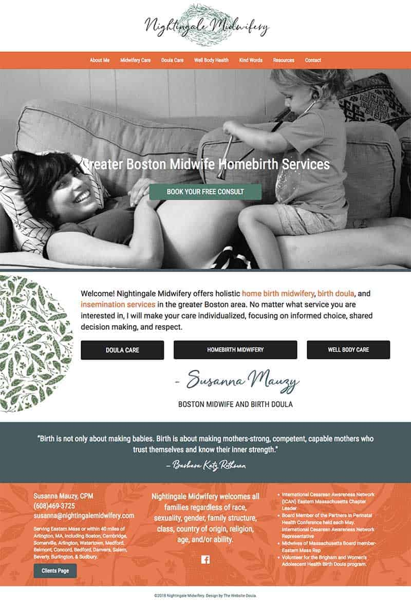 Midwife Website Design
