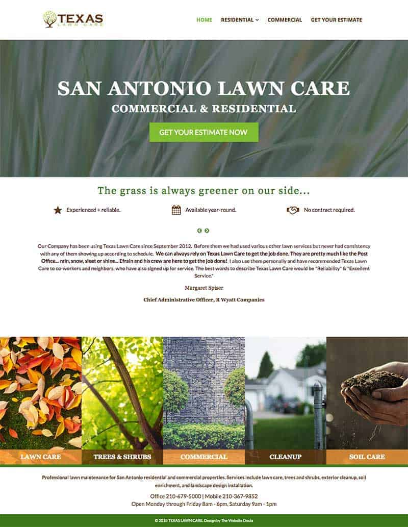 Lawn Care Website