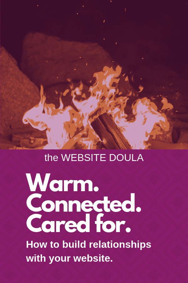 website connection warmth