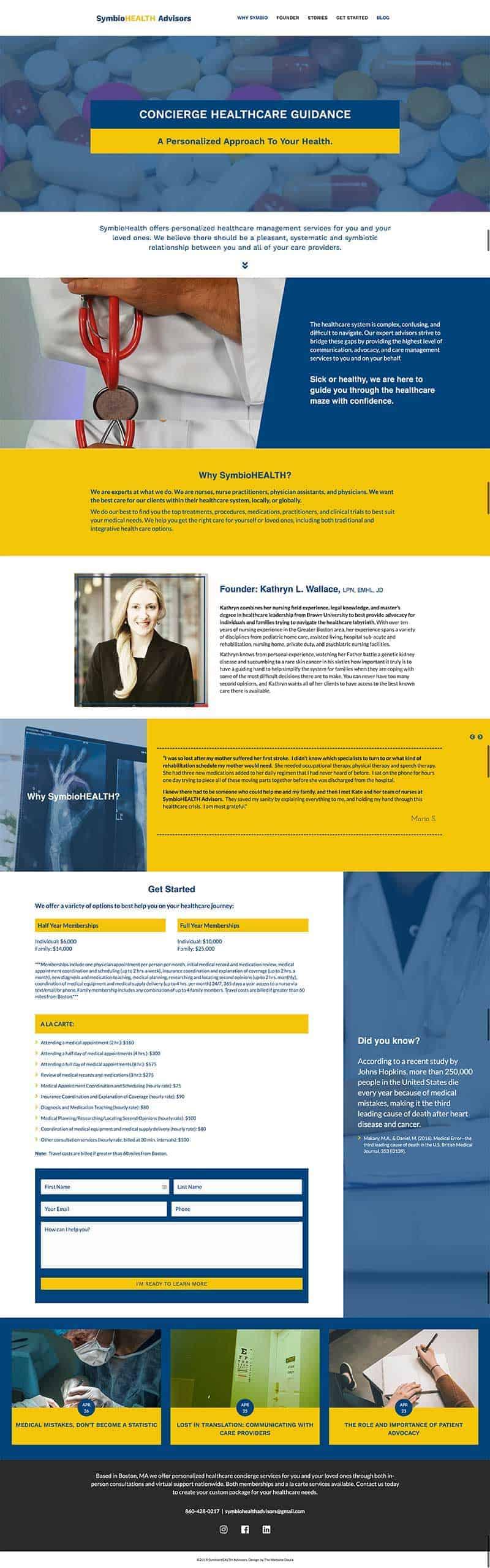 healthcare concierge website