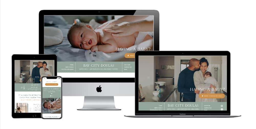 doula website design