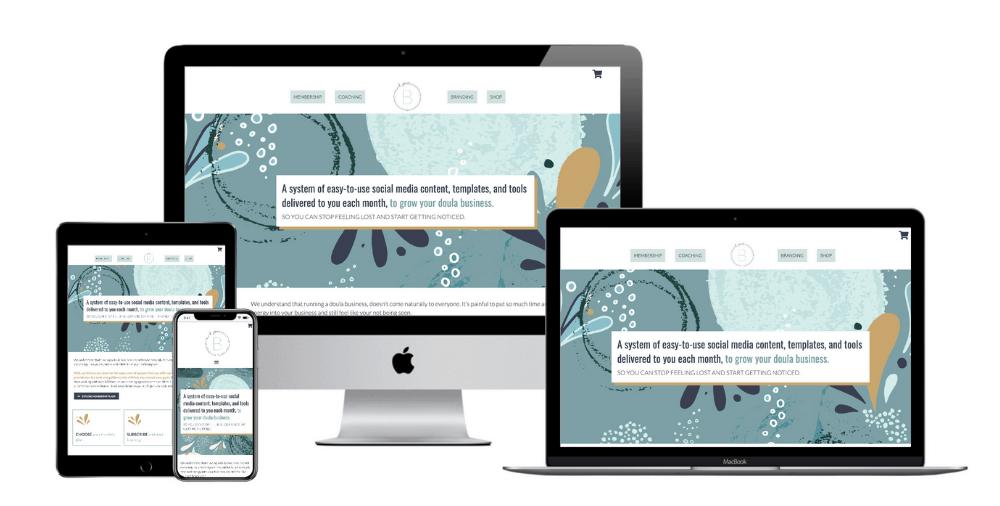 Business Coaching web design