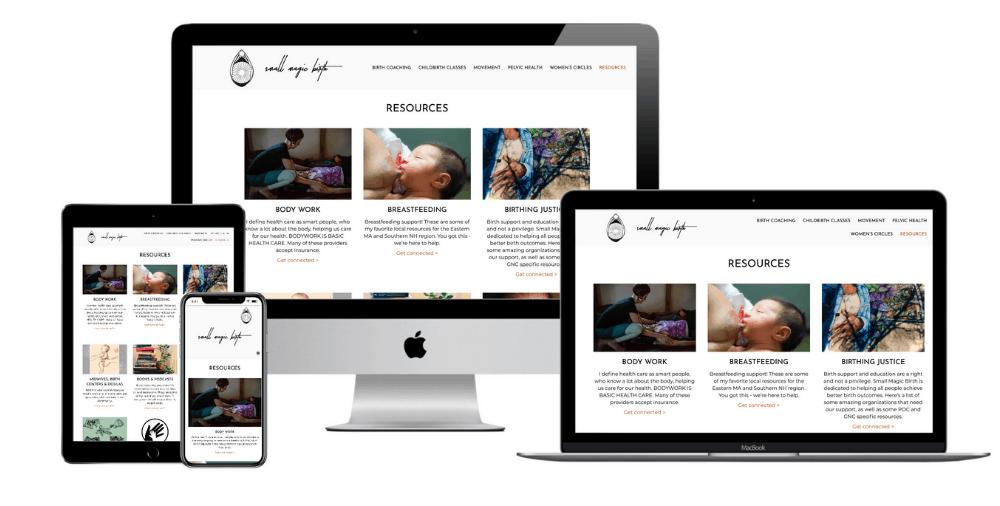 Childbirth Classes Website Design