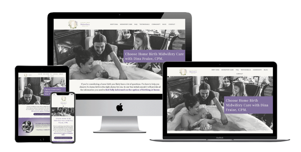 Home Birth Midwifery Web Design