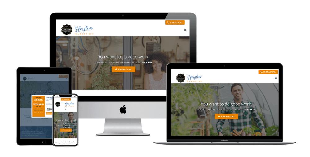 Marketing coach web design