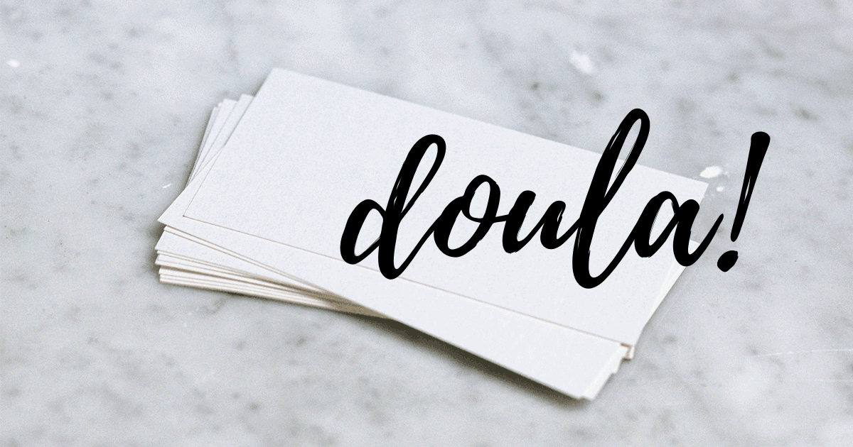 doula business cards