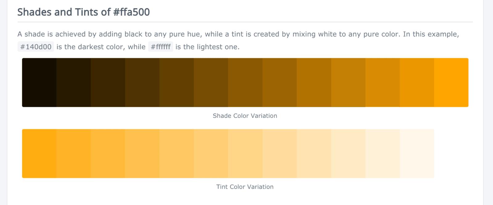 warm website design orange color palette
