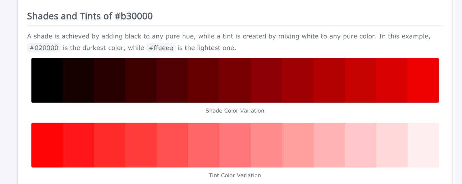 warm website design red palette