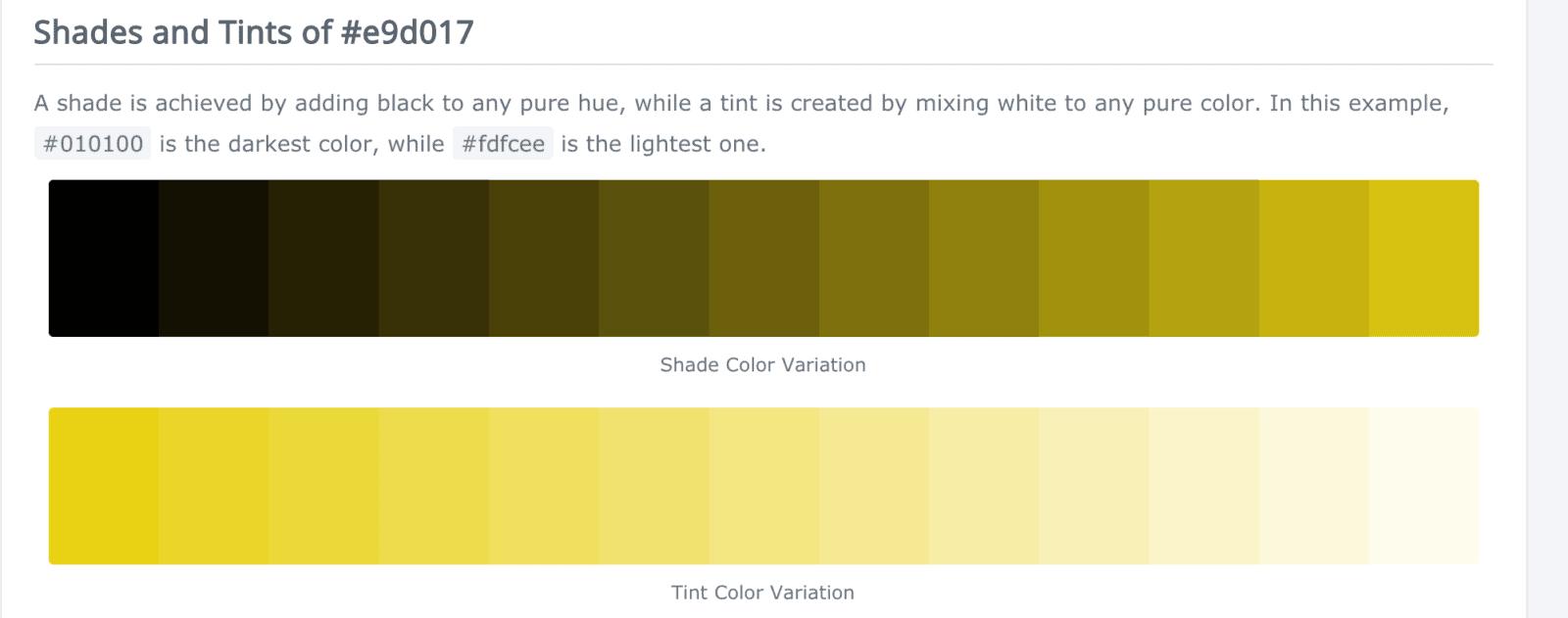 warm website design yellow color palette
